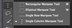 Single column marquee tool